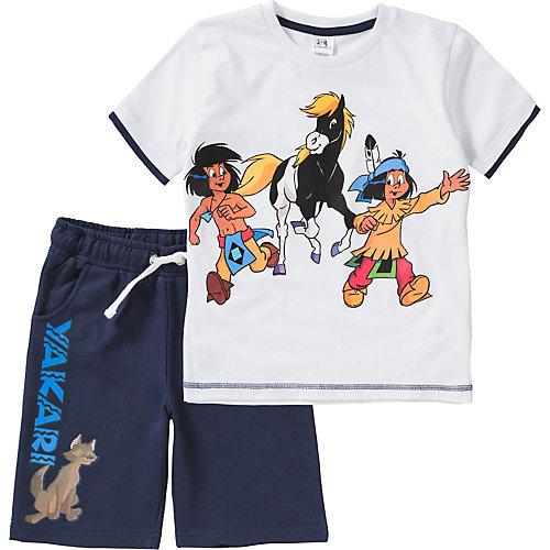 Yakari Set T-Shirt + Sweatshorts Gr. 116/122 Jungen Kinder | 04049118474514