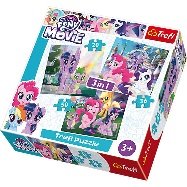 3in1 Puzzle - 20/36/50 Teile - My little Pony, My little Pony