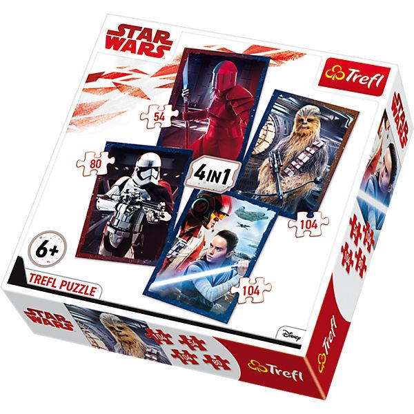 4in1 Puzzle - 54/ 80/ 2x104 Teile - Star Wars Episode VIII, Star Wars