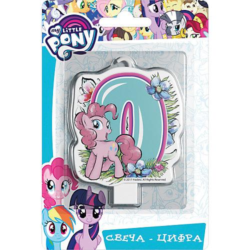 """Свеча для торта Росмэн """"My little Pony. Свеча-цифра 0"""" от Росмэн"""