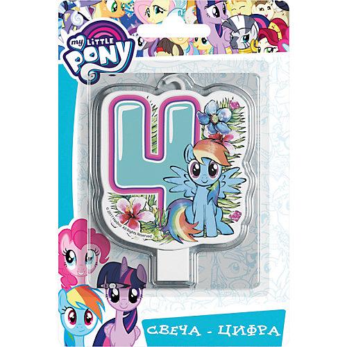 """Свеча для торта Росмэн """"My little Pony. Свеча-цифра 4"""" от Росмэн"""