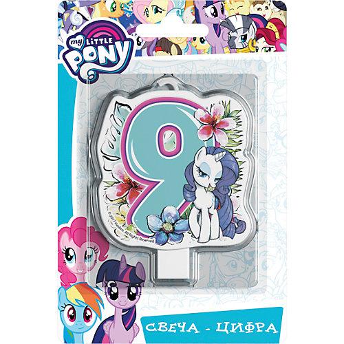 """Свеча для торта Росмэн """"My little Pony. Свеча-цифра 9"""" от Росмэн"""