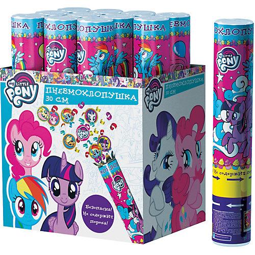 "Пневмохлопушка Росмэн ""My little Pony"", 30 смконфетти с героями от Росмэн"