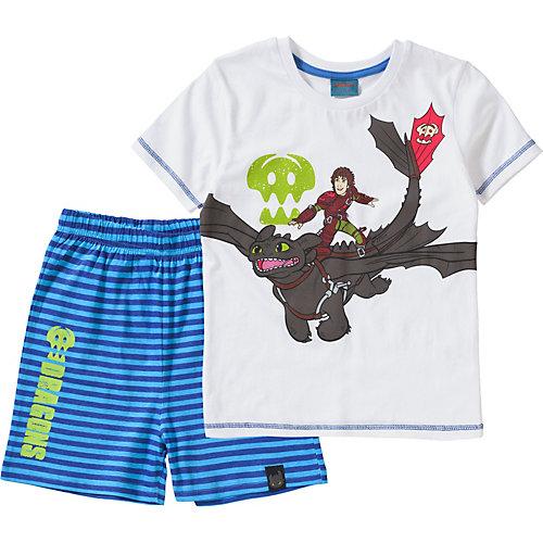 DRAGONS Schlafanzug Gr. 128/134 Jungen Kinder | 04049118476624