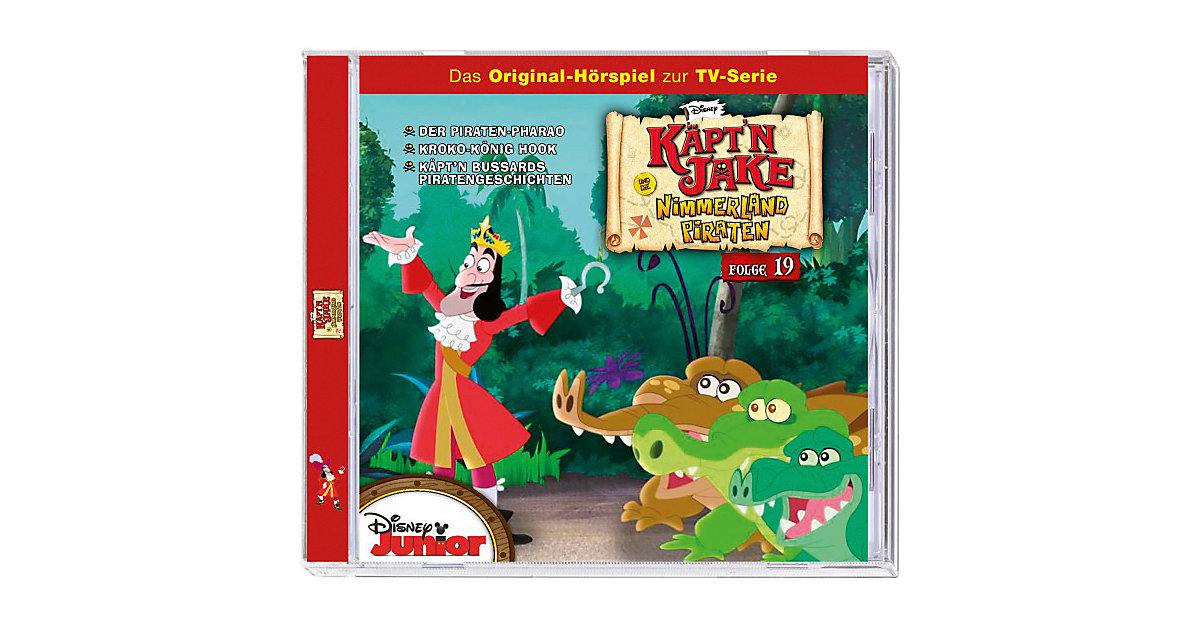CD Disney Jake und die Nimmerland Piraten 19 - Der Piraten-Pharao/Kroko-König Hook