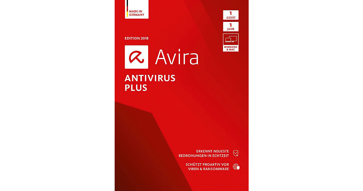 PC Avira AntiVirus Plus 2018 - 1 Gerät