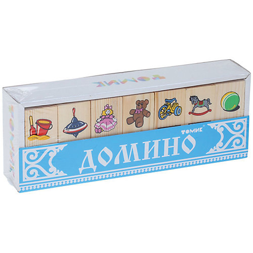 """Деревянное домино Томик """"Игрушки"""" от Томик"""