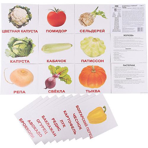 """Набор обучающих карточек Вундеркинд с пелёнок """"Овощи"""" 20 штук от Вундеркинд с пелёнок"""