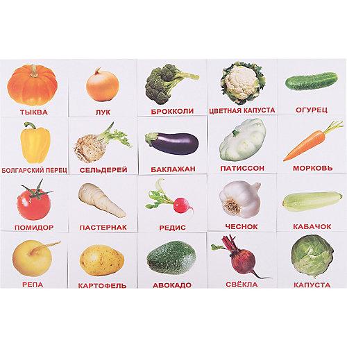 """Набор обучающих мини-карточек Вундеркинд с пелёнок """"Овощи"""" 20 штук от Вундеркинд с пелёнок"""