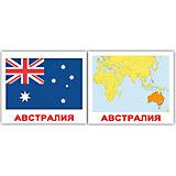 """Набор обучающих мини-карточек Вундеркинд с пелёнок """"Страны. Флаги. Столицы"""" 40 штук"""