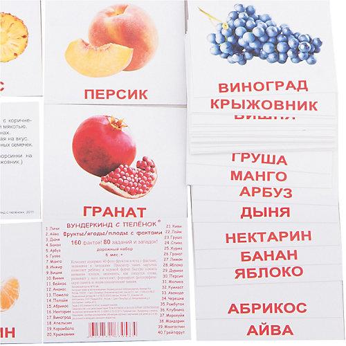 """Набор обучающих мини-карточек Вундеркинд с пелёнок """"Фрукты"""" 40 штук от Вундеркинд с пелёнок"""