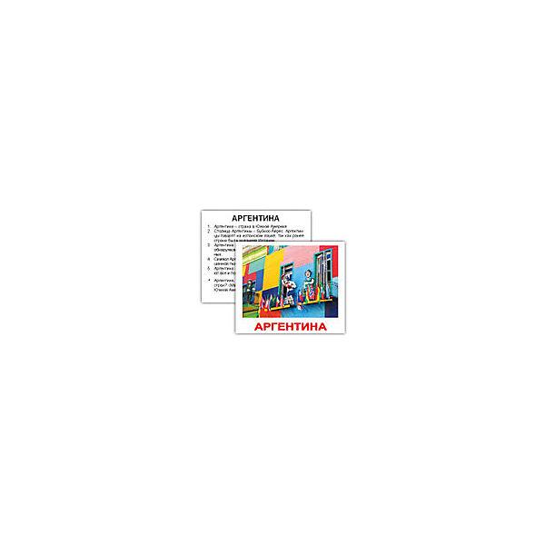 """Набор обучающих мини-карточек Вундеркинд с пелёнок """"Страны"""" 40 штук"""
