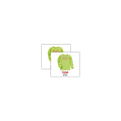 """Набор обучающих мини-карточек Вундеркинд с пелёнок """"Clothes/Одежда"""", двухсторонний 40 штук от Вундеркинд с пелёнок"""