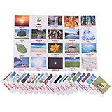 """Набор обучающих мини-карточек Вундеркинд с пелёнок """"Nature/Природа"""", двухсторонний 40 штук"""