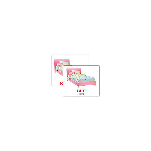 """Набор обучающих мини-карточек Вундеркинд с пелёнок """"House/Дом"""", двухсторонний 40 штук"""