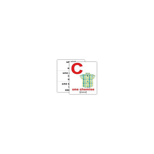 """Набор обучающих мини-карточек Вундеркинд с пелёнок """"L'alphabet/Алфавит"""", двухсторонний 26 штук"""