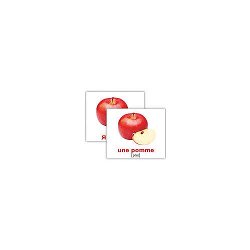 """Набор обучающих мини-карточек Вундеркинд с пелёнок """"Les fruits et les légumes/ Фрукты и Овощи"""", двухсторонний 20 штук от Вундеркинд с пелёнок"""