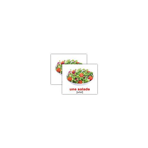 "Набор обучающих мини-карточек Вундеркинд с пелёнок ""La nourriture/Еда"", двухсторонний 20 штук от Вундеркинд с пелёнок"
