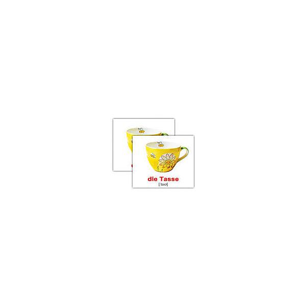 """Набор обучающих мини-карточек Вундеркинд с пелёнок """"Innenausstattung/Интерьер"""", двухсторонний 20 штук"""
