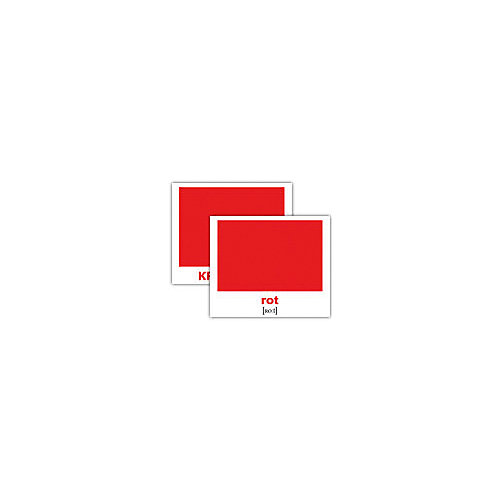 """Набор обучающих мини-карточек Вундеркинд с пелёнок """"Farben/Цвета"""", двухсторонний 20 штук от Вундеркинд с пелёнок"""
