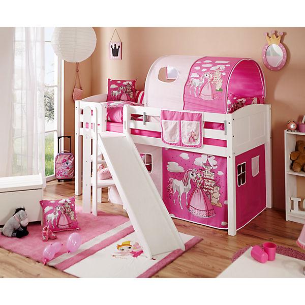 podestbett ekki country horse rosa 90 x 200 cm ticaa mytoys. Black Bedroom Furniture Sets. Home Design Ideas