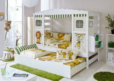 ... Hausbett Safari Mit Zusatzbett, Kiefer Massiv, Grün, 90 X 200 Cm 2