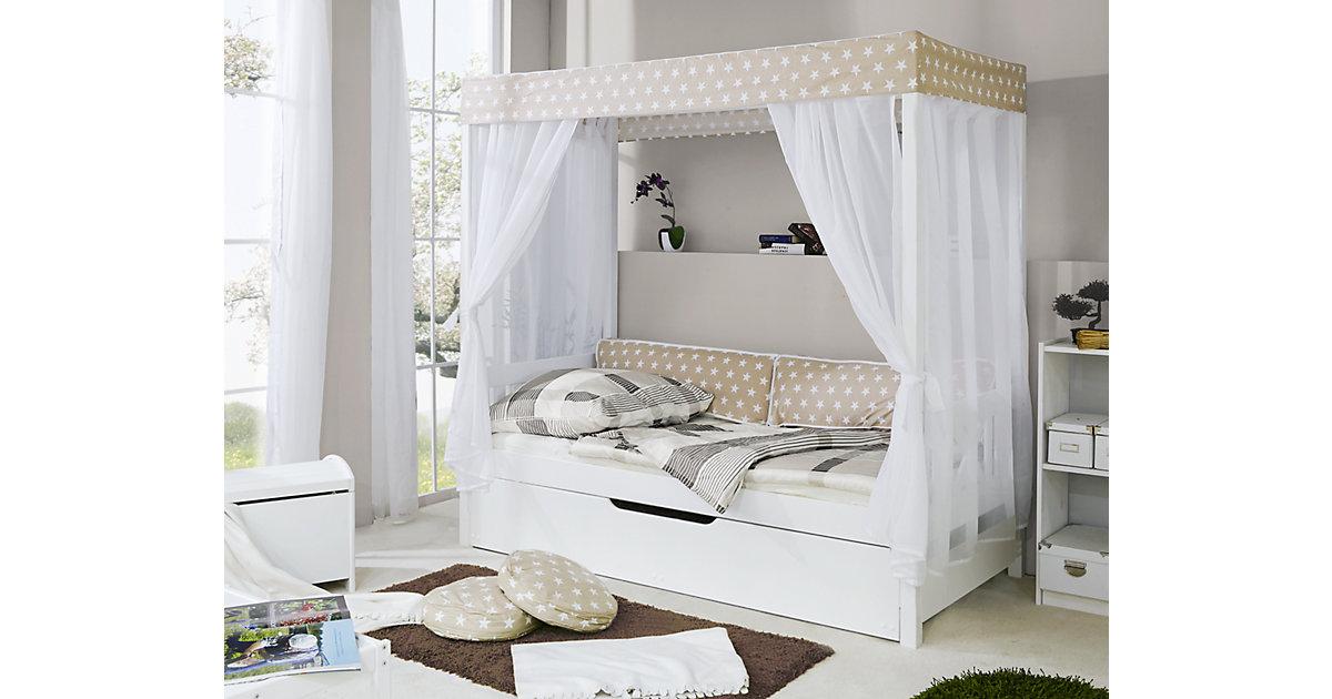 TICAA · Himmelbett Stern mit Zusatzbett, beige, 90 x 200 cm