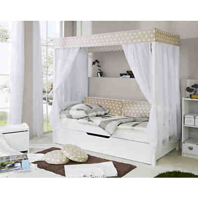 hausbett safari mit zusatzbett kiefer massiv gr n 90 x 200 cm ticaa mytoys. Black Bedroom Furniture Sets. Home Design Ideas
