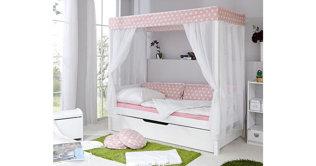 TICAA · Himmelbett Stern mit Zusatzbett, rosa, 90 x 200 cm