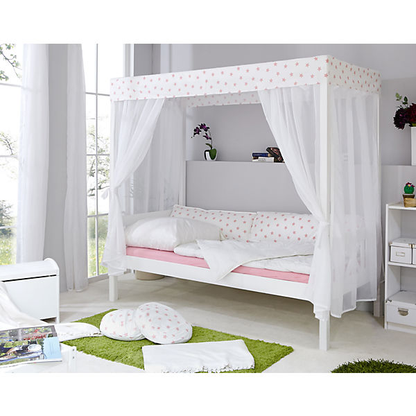 himmelbett stern wei rosa 90 x 200 cm ticaa mytoys. Black Bedroom Furniture Sets. Home Design Ideas