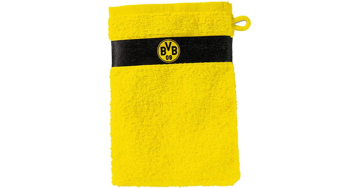 Borussia Dortmund · Waschhandschuh BVB, gelb, 16 x 21 cm