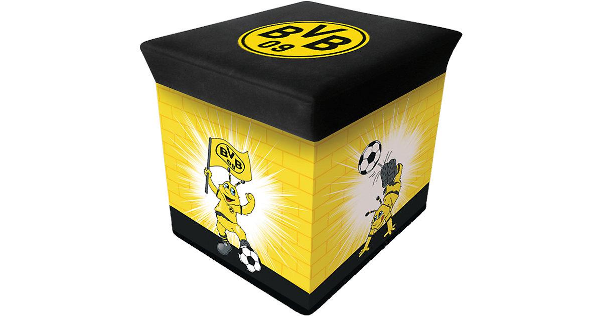 Borussia Dortmund · Aufbewahrungsbox EMMA, schwarz/gelb, 28 x 28 cm