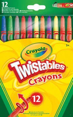 Выкручивающиеся восковые мелки Crayola, 12 штук