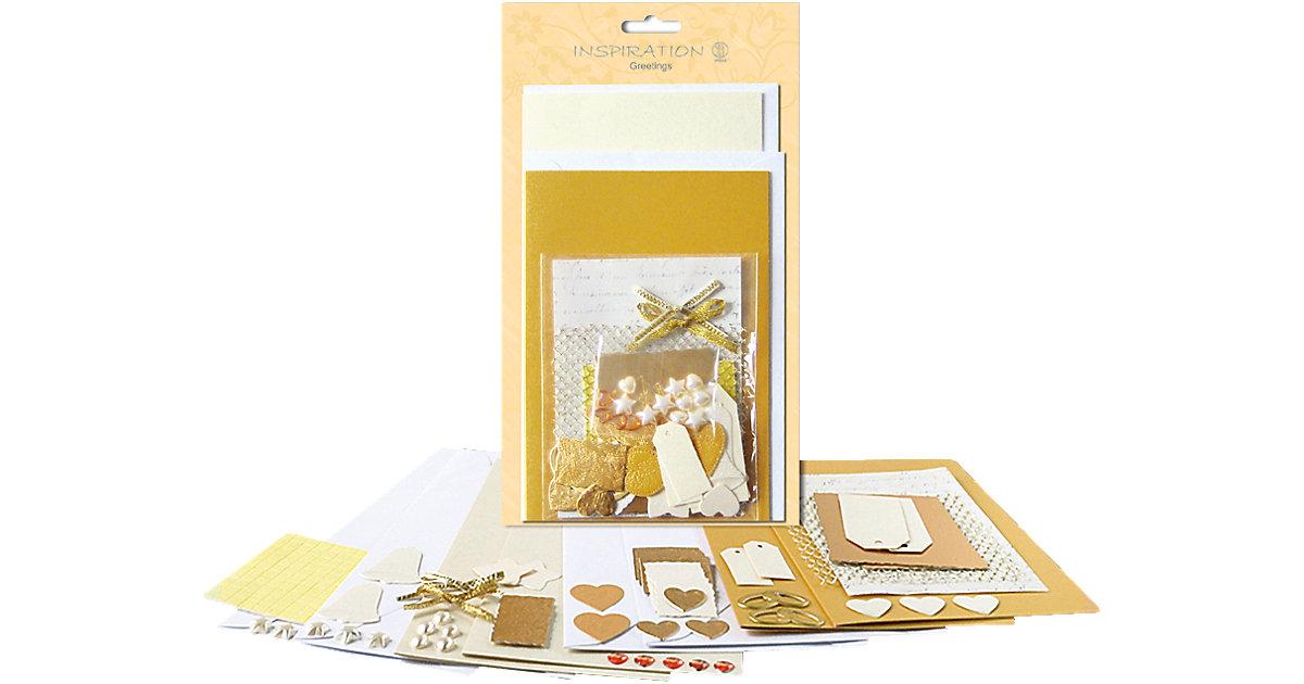4 Grußkarten-Set ´´Gold´´ + Kurverts, Accessoires