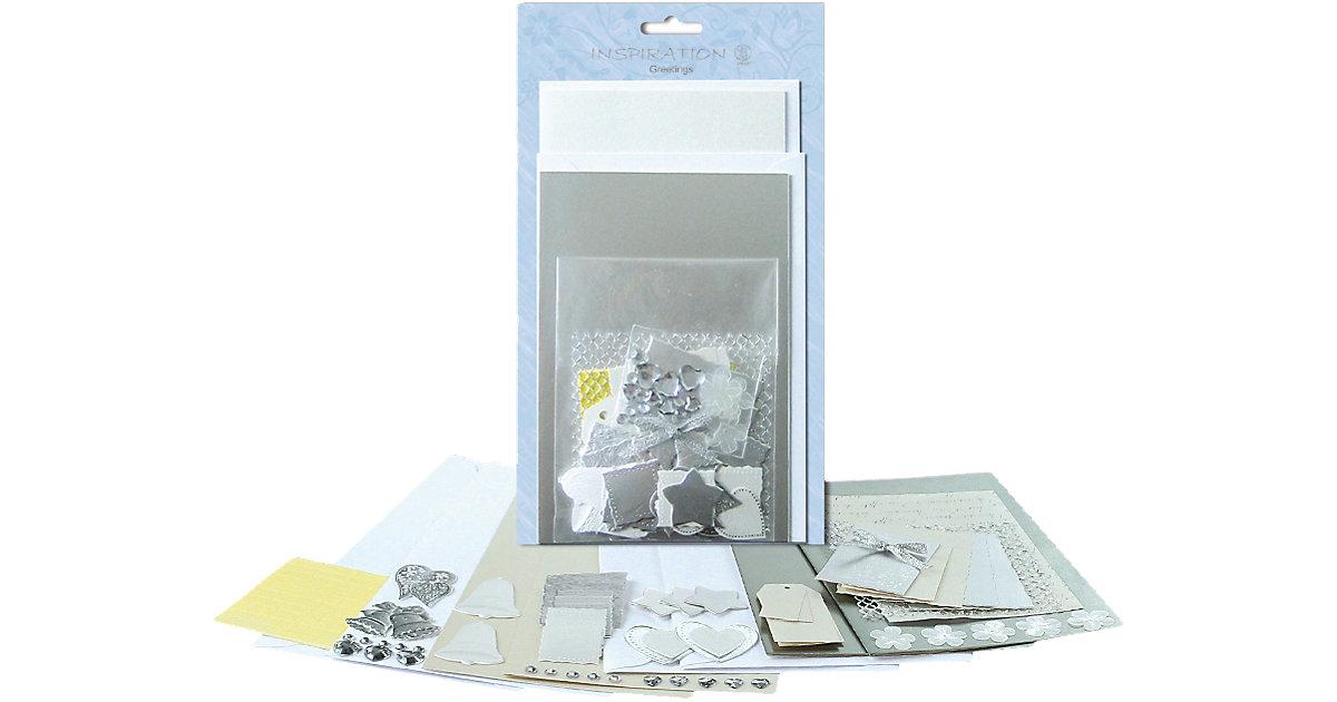 4 Grußkarten-Set ´´Silver´´ + Kurverts, Accesso...