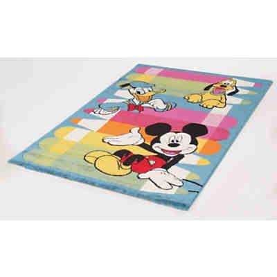 Kinderteppich Mickey und Minnie Mouse, Clubhaus, 80 x 140 cm, Disney Mickey  Mouse & friends