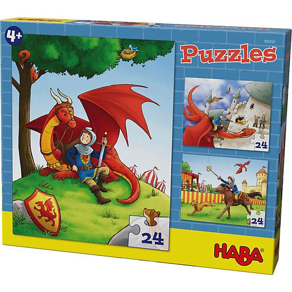 Puzzles - 3 x 24 Teile - Ritter Killian, Haba