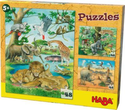 Holzspielzeug GOKI Puzzle Afrika 48 Teile