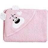 Полотенце с капюшоном Мишки Fun Dry, Twinklbaby, розовый с белыми ушками