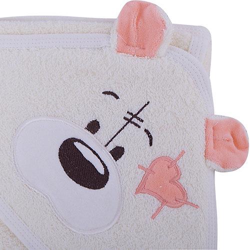 Полотенце с капюшоном Мишки Fun Dry, Twinklbaby, светло-бежевый с персиковыми ушками от Twinklbaby