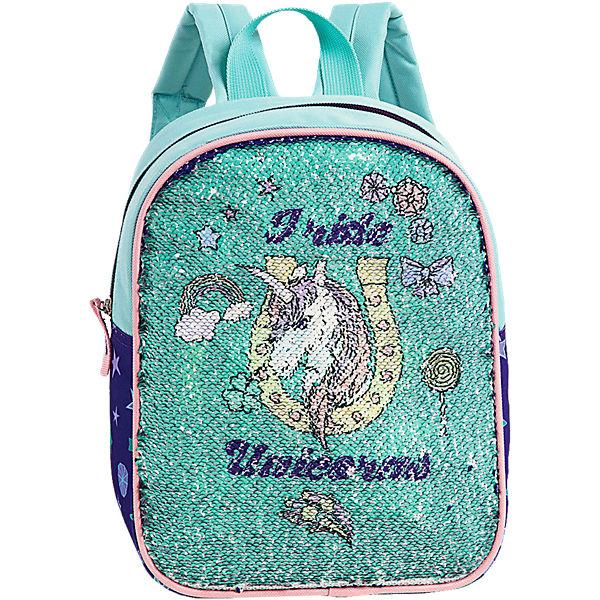 8b4d0917c6fb0 Kinderrucksack mit Wendepailletten Einhorn - Meerjungfrau
