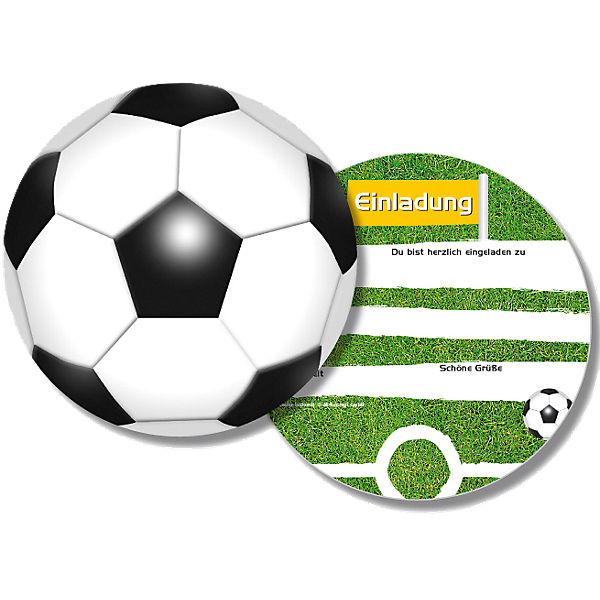 Einladungskarten Fussball 6 Stuck Dh Konzept