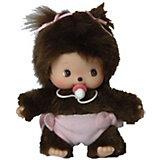 Мягкая игрушка Monchhichi Бэбичичи, девочка в подгузнике, 15 см