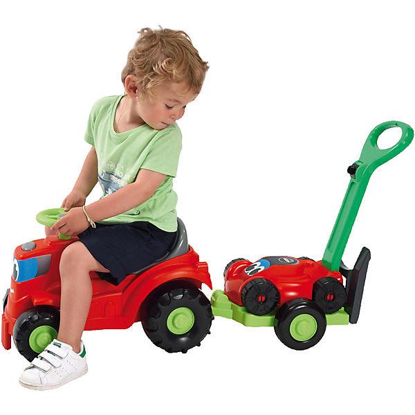 Kindertraktor mit Anhänger Rasenmäher, Ecoiffier