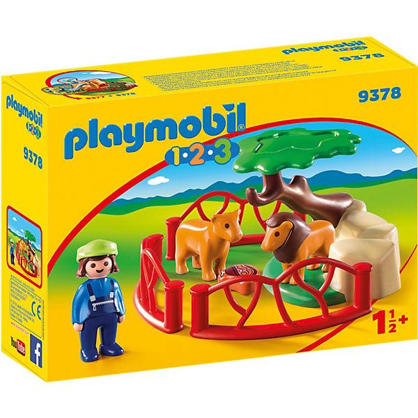 PLAYMOBIL® 9378 Löwengehege, PLAYMOBIL 1 2 3