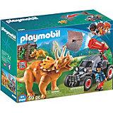 Конструктор Playmobil Вражеский квадроцикл с трицератопсом, 7 деталей