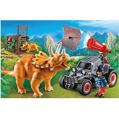 Конструктор Playmobil Вражеский квадроцикл с трицератопсом, 7 деталей от PLAYMOBIL®