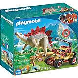 Конструктор Playmobil Исследовательский транспорт со стегозавром, 7 деталей