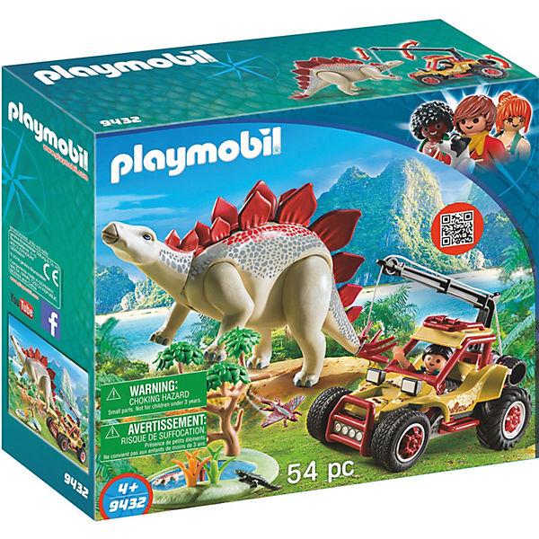 Playmobil 9432 Forschermobil Mit Stegosaurus Playmobil Wild Life
