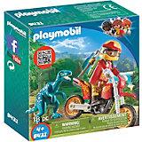 Конструктор Playmobil Гоночный мотоцикл с ящером, 7 деталей
